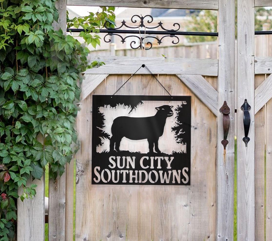 Metal Show Sheep, Southdown Lamb Southdown Sheep Sign