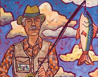 The Fisherman Original Painting