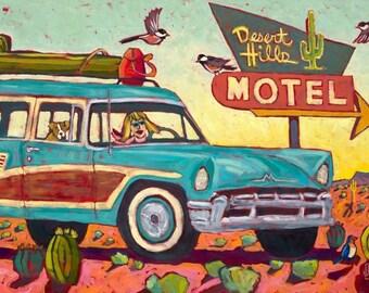 Desert Hills Motel Metal Print