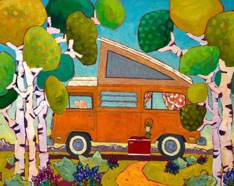 Van Life In The Aspens Original Painting