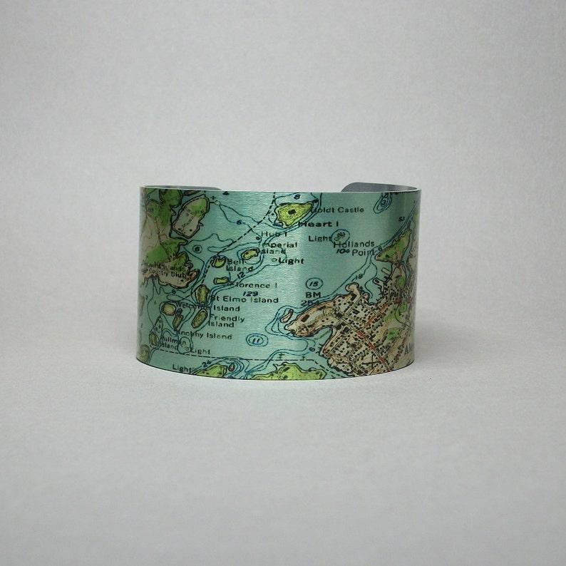 Thousand Islands Alexandria Bay New York Map Unique Travel | Etsy on