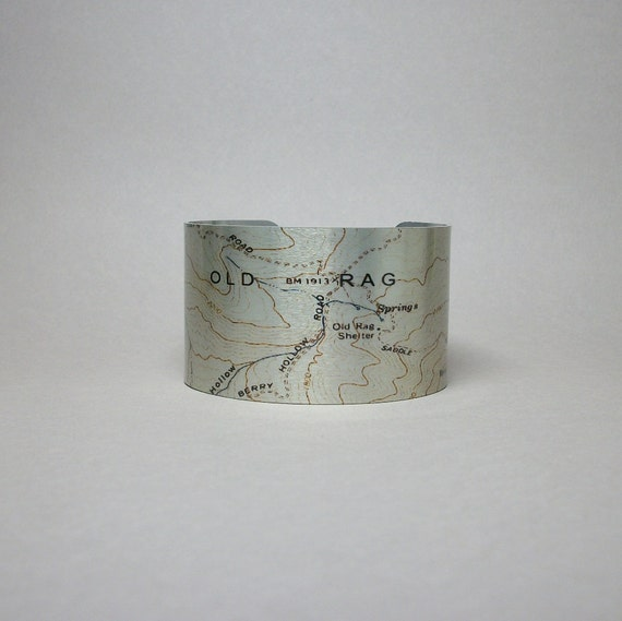 Shenandoah National Park Old Rag Virginia Trail Map Cuff