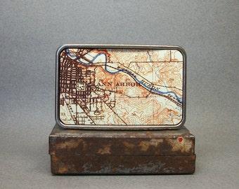 Belt Buckle Vintage Map Ann Arbor Michigan Cool Gift for Men or Women Groomsmen Bridesmaid