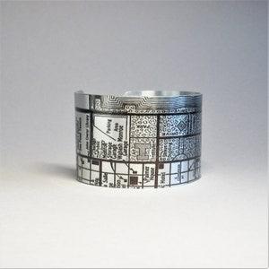 Chicago Illinois Map Cuff Bracelet Unique Gift for Women or Men