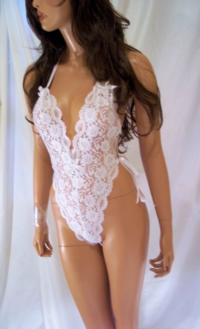 fc9864267 White Lace Lingerie White Teddy White Babydoll Bridal