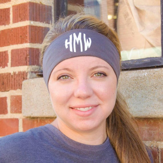 Monogram headband headbands Adult stretch headbands  ce788f5d0a2