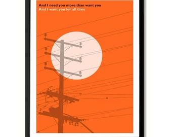 Shipbuilding Elvis Costello inspired Lyric Quote Art Print