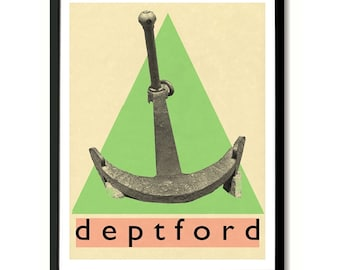 Deptford, South London Wall Art Print
