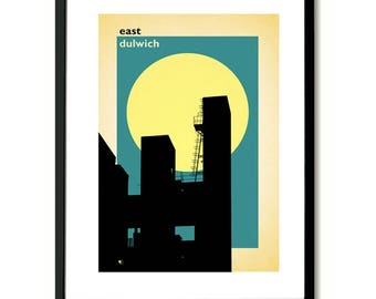 East Dulwich, South London Wall Art Print