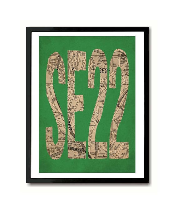 SE22, South London, Postcode Art Print