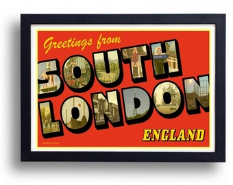 Greetings From South London Wall Art Poster Print