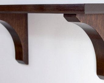 Wall Shelf - Craftsman Style 18 Inch in Quatersawn White Oak