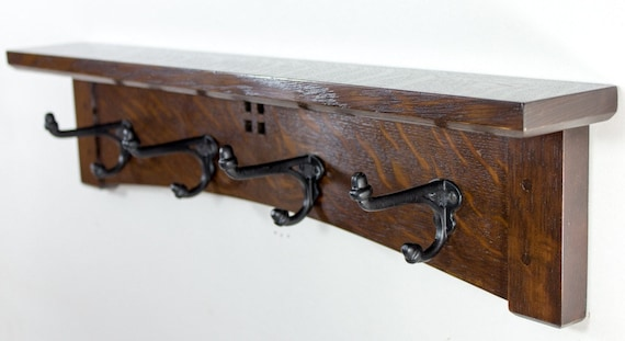 Arts And Crafts 400 Inch 40 Cast Iron Hook Coat Rack With Key Etsy Amazing 24 Inch Coat Rack