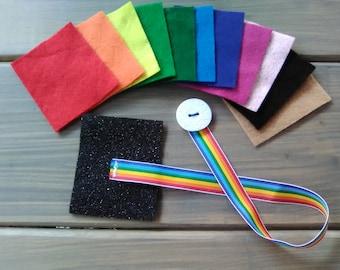 Preschool Button Snake: Rainbow ribbon