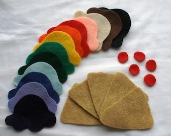 Rainbow Counting Ice Cream Cones: Learning Activity, Fine Motor Skills, Imaginative Play, Felt Board Set