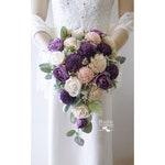 Sola Flower Bridal Cascade Bouquet ~ Wisteria ~ Sola Flower Bouquet, Sola Wood Bouquet, Faux Flowers, Cascade Wedding Bouquet