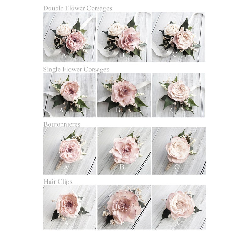 Cottage Rose Sola Flower Corsages Boutonnieres & Hair Clips  Hair Clip C
