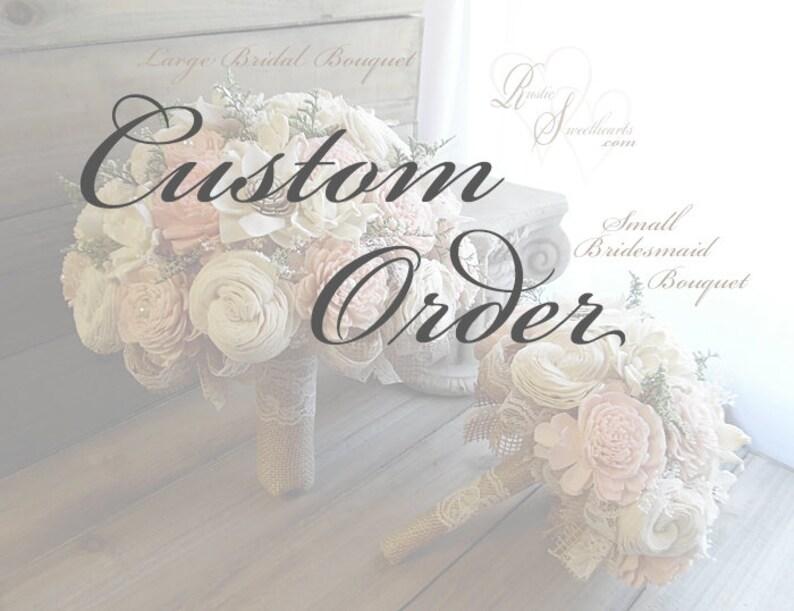 Custom order for Denisedonlon1  colors: ballet petal & off image 0