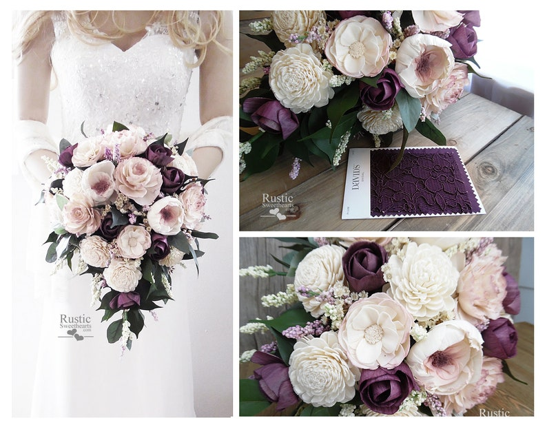 Light Dusty Rose with Plum and hints of Lilac  Cottage Rose image 0