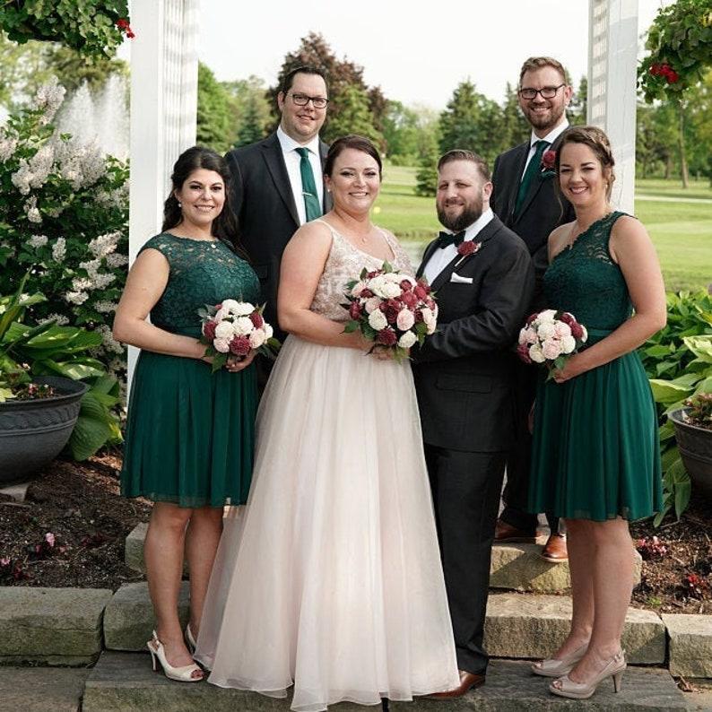 Sola Flower Bridal Bouquet Bridesmaid Bouquet Matching image 0