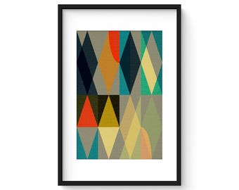 ENTWINE no.1  - Geometric Mid Century Modern Abstract Art Print