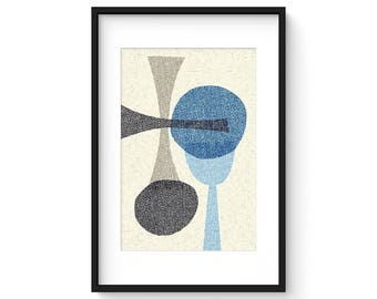 OFFSET no.10 - Giclee Print - Mid Century Modern Contemporary Modern Abstract Modernist Art