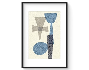OFFSET no.15 - Giclee Print - Mid Century Modern Contemporary Modern Abstract Modernist Art