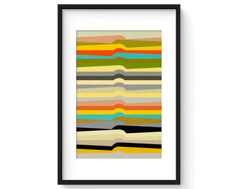 CONTOUR no.1 - Giclee Print - Contemporary Modern Abstract Modernist