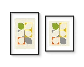 ARRAY v57 - Mid Century Style Contemporary Modern Abstract Art Print - 8x10 or 8x12 Format