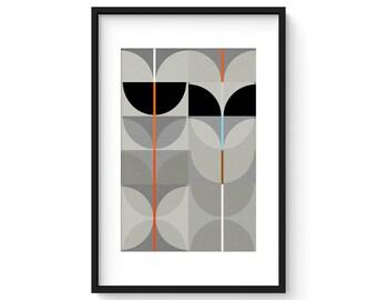 NIGHT SWAN no.1 - Giclee Print - Abstract Mid Century Modern Design