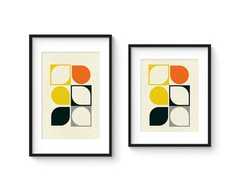 ARRAY v102 - Mid Century Style Contemporary Modern Abstract Art Print - 8x10 or 8x12 Format