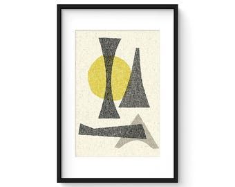 OFFSET no.3 - Giclee Print - Mid Century Modern Contemporary Modern Abstract Modernist Art