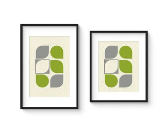 ARRAY v58 - Mid Century Style Contemporary Modern Abstract Art Print - 8x10 or 8x12 Format