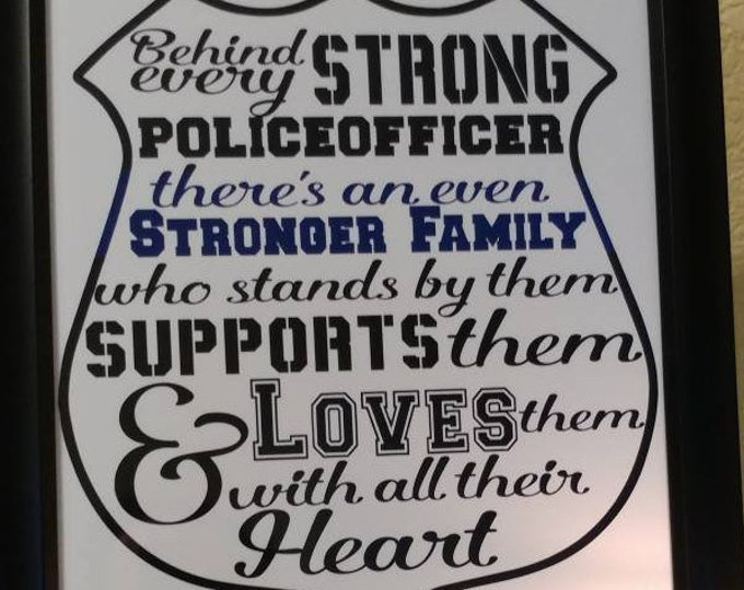 Thin blue line, Police Officer support.