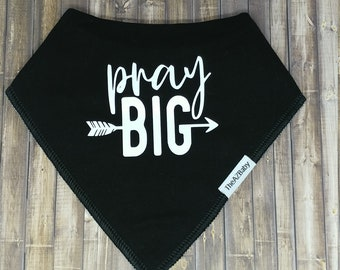 100% Cotton Baby Bib, bandanna style. Faith bib. Prayer bib.