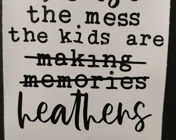 Life with kids quote, wall art, decal, sticker