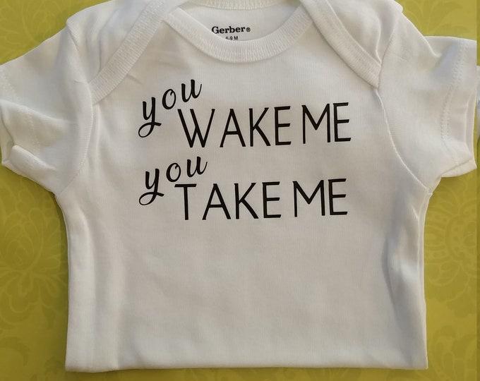 Don't wake the baby onesie, funny saying Onesie®, cute baby onesie