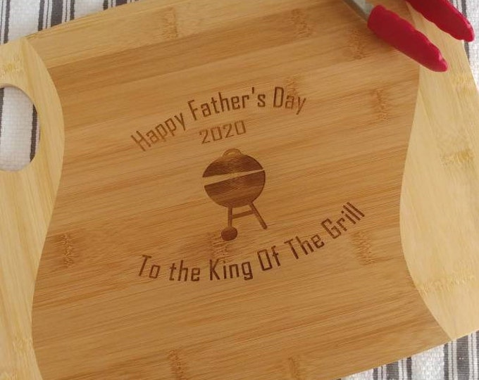 Personalized Cutting Board, Wedding present, Laser engraved Cutting Board, Eco friendly bamboo cutting board, New home gift, Father's day.