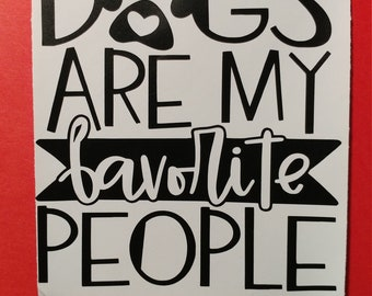 Dog lover decal, wall art, sticker