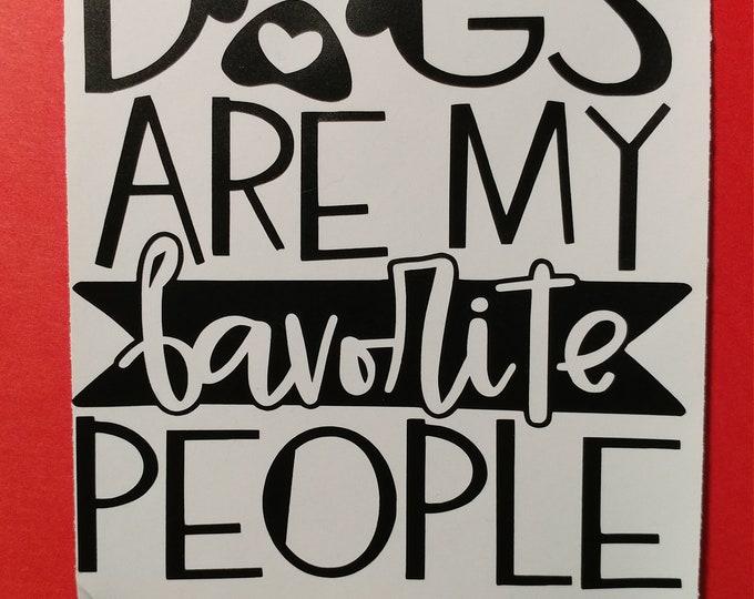 Dog lover decal, wall art, sticker