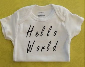 Hello World 100% cotton baby Onesie®