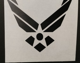 Air Force Decal for car window, water bottle, lap  top and more.