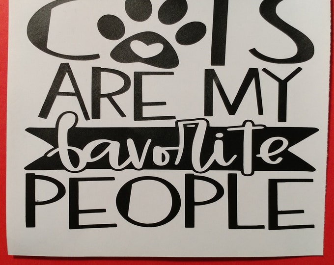 Cat decal for car window, water bottle, lap  top and more.