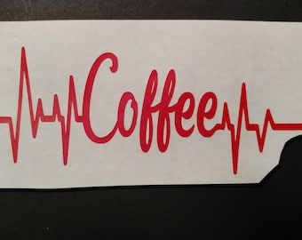 Coffee decal for car window, water bottle, lap  top and more.