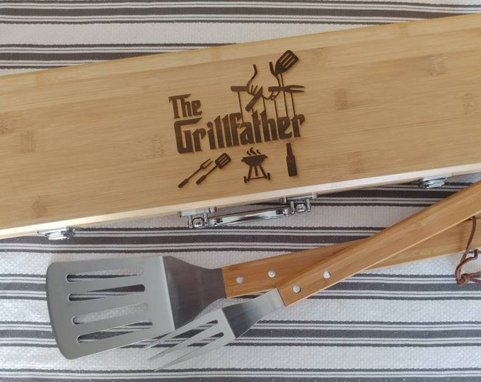 Custom Personalized BBQ set with tools, BBQ gift,