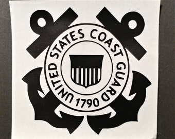 Coast Guard Decal for car window, water bottle, lap  top and more.
