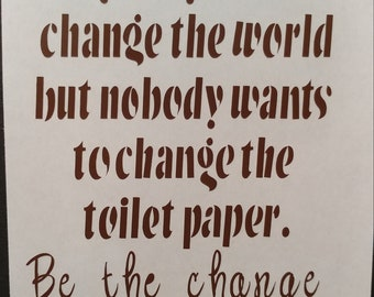 Bathroom quote, wall art, decal, sticker