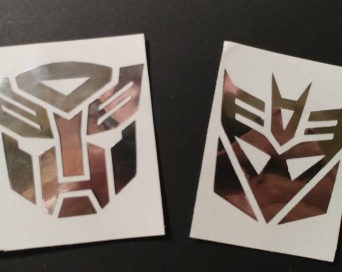 Autobots and Decepticons car window decal, sticker, wall art
