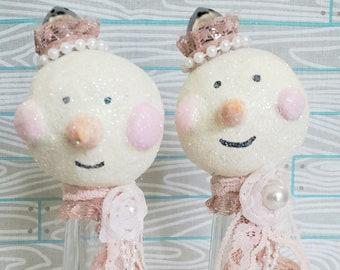 Snow Buddies Set 4 Christmas Decoration Holiday Ornament
