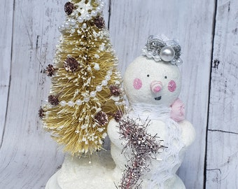 Pinky Frost Christmas Decoration Table Decor
